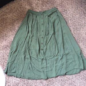 ASOS Button Front Midi Skirt
